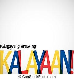 filipinas, dia, vetorial, independência, format., cartão