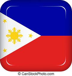 filipinas, vetorial, bandeira