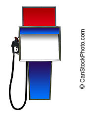 Fill Er Up - a gas station gasoline pump isolated on white