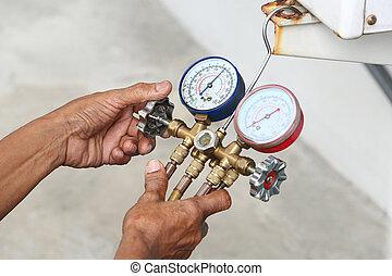 Fill refrigerant - Technician inspection refrigerant...