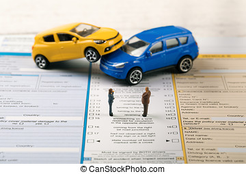 fill the accident statement after car crash