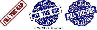 FILL THE GAP Scratched Stamp Seals