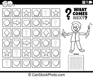fill the pattern game for children coloring book page - ...
