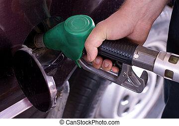 fill up of gasoline