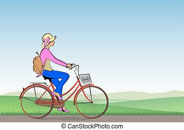 fille bicyclette