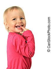 fille souriante, heureux