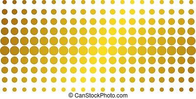 Filled Circle Golden Halftone Pattern - Filled circle icon ...