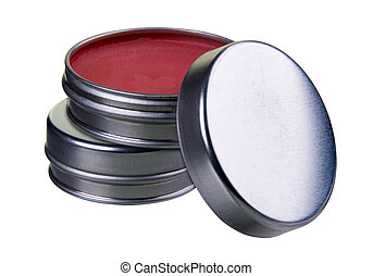 Filled tins for easy use in designs and layouts