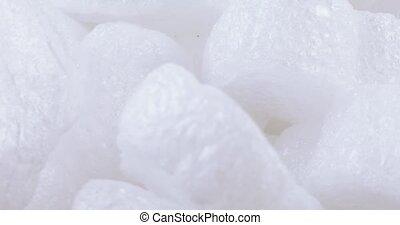 Set of white filler foam in bulk