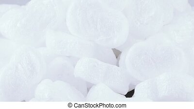 Filler many foam bulk - Set of white filler foam in bulk