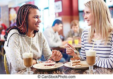 filles, conversation