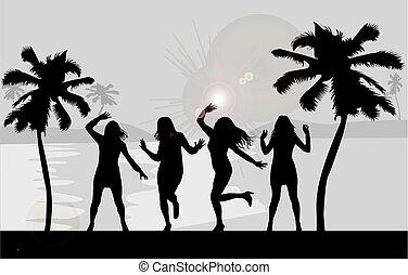 filles, fête