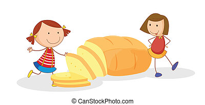 filles, pain