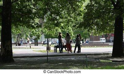 filles, parc