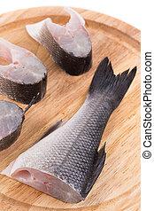 Fillet of fresh raw fish