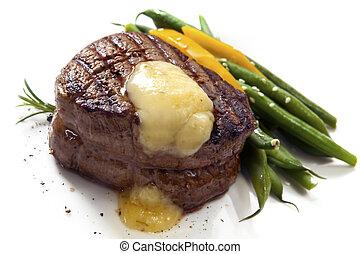Fillet Steak - Thick-cut fillet steak with Bearnaise sauce,...