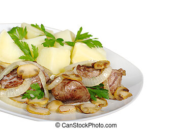 Fillet with Mushrooms