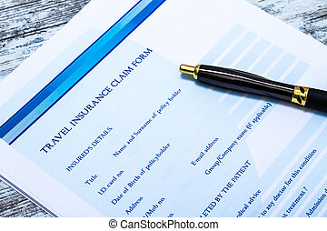 Filling a Travel insurance claim form