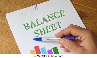 Filling Balance Sheet Report - Balance Sheet Report on...