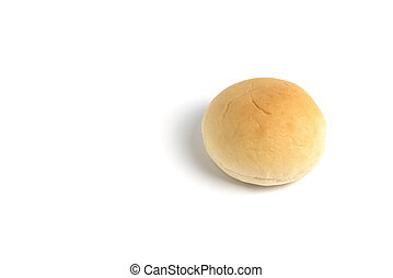 Filling bun on white background