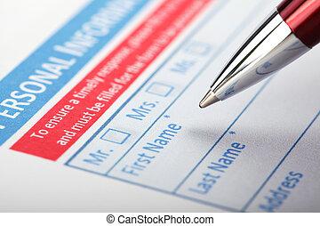 Filling Document Form