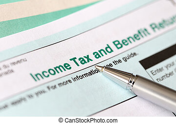 Filling in canadian individual tax form