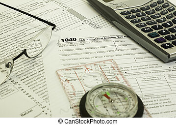 filling out 1040 tax form