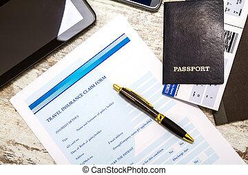 Filling Travel insurance claim form