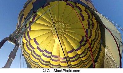 Hot Air Balloon - Filling up a Hot Air Balloon