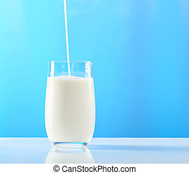 filling up glass with milk