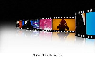 film, 2, unterhaltung, film- streifen