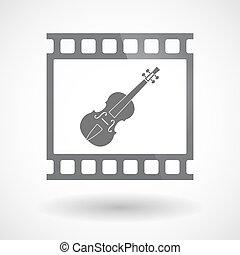 film 35mm, isolé, cadre, diapo, violon, photogram