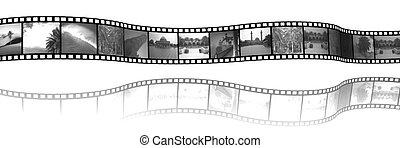 film - 3d illustration of Film Strip