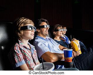 film, 3d, théâtre, famille, regarder
