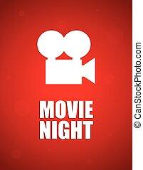 film, achtergrond, nacht