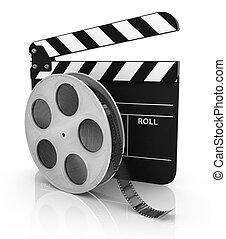 Film and Clapper board - video icon