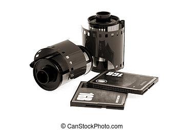 Film and Digital 2 - Negative and digital film. B&W. Sepia