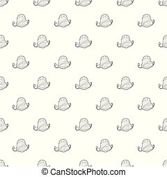 Film and popcorn pattern vector seamless