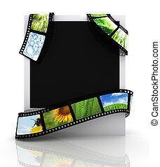 Film around a photograph