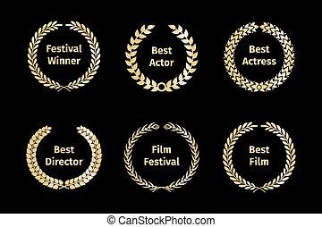 Film awards wreaths