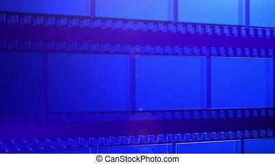 3D film background rotation