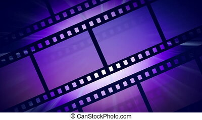 Animated background with a rotating reel of film