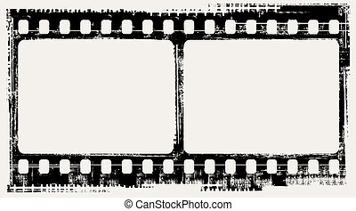 film background - vector grunge filmstrip frames
