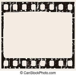 film background - vector grunge filmstrip frame