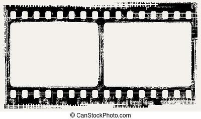 film background - vector grunge filmstrip frames