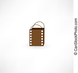 Film bag icon.