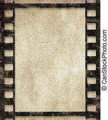 film, baggrund, grunge