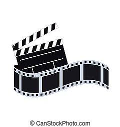 film, bande, conception, pellicule, cinéma