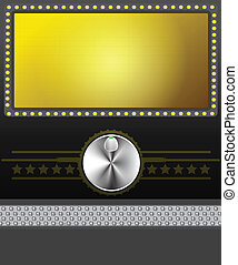 film, banner, oder, schirm