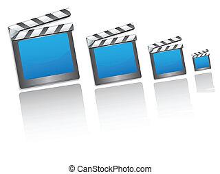 film, bardeau, cinéma, icônes